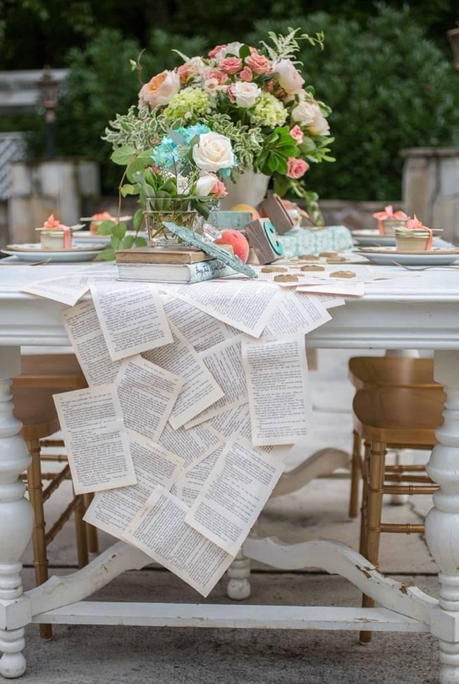 Peach and Teal Vintage Book Themed Wedding Inspiration {Star Noir Studio} 20