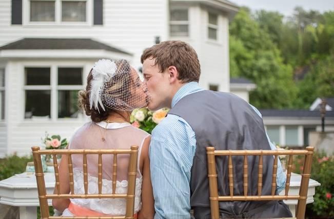 Peach and Teal Vintage Book Themed Wedding Inspiration {Star Noir Studio} 22