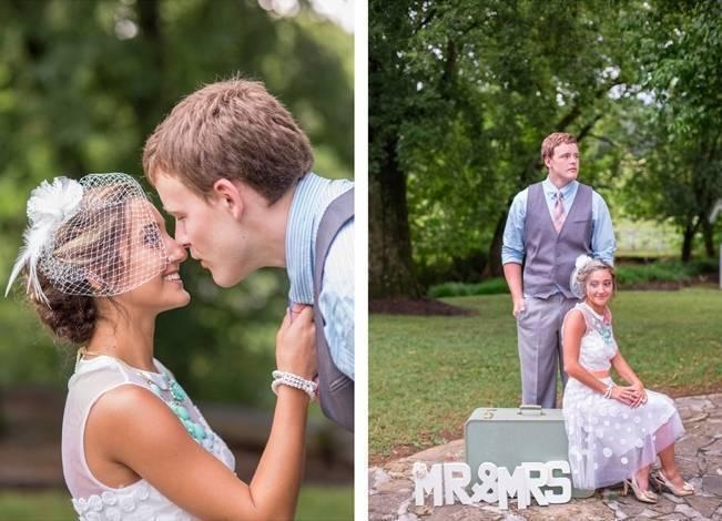 Peach and Teal Vintage Book Themed Wedding Inspiration {Star Noir Studio} 23
