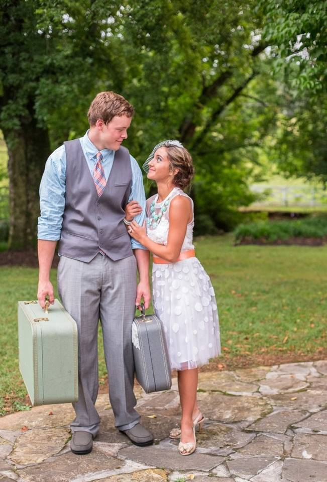 Peach and Teal Vintage Book Themed Wedding Inspiration {Star Noir Studio} 24