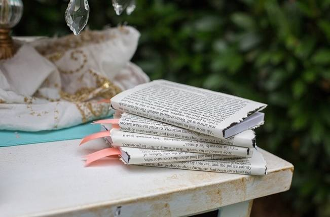 Peach and Teal Vintage Book Themed Wedding Inspiration {Star Noir Studio} 5