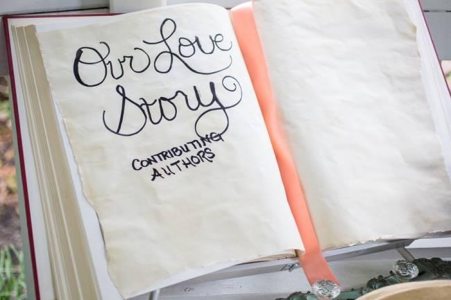 Peach and Teal Vintage Book Themed Wedding Inspiration {Star Noir Studio} 6.5