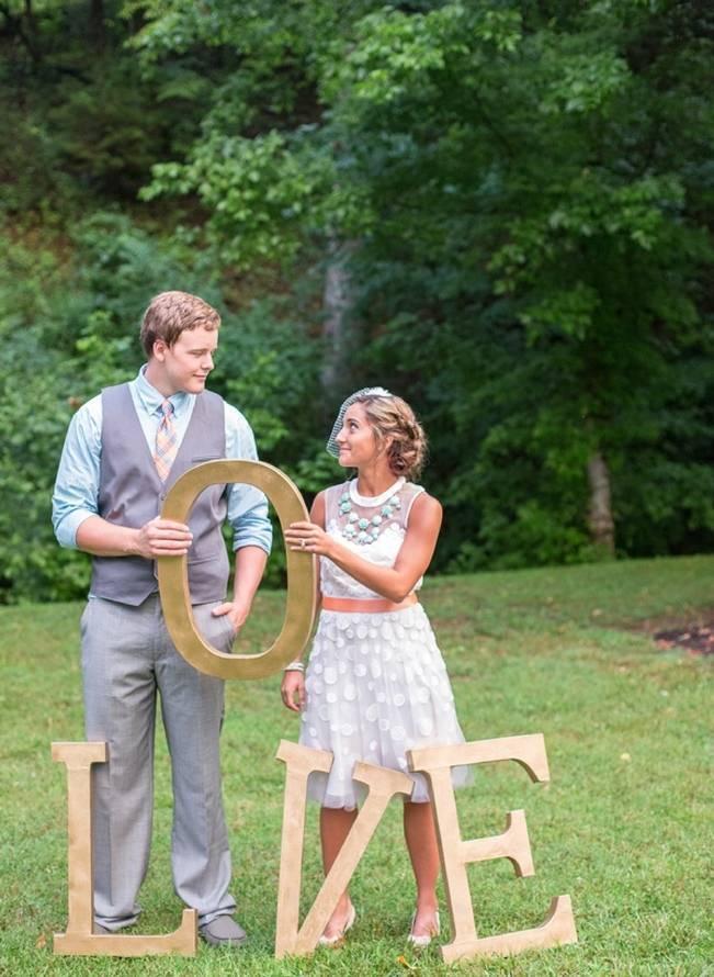 Peach and Teal Vintage Book Themed Wedding Inspiration {Star Noir Studio} 9
