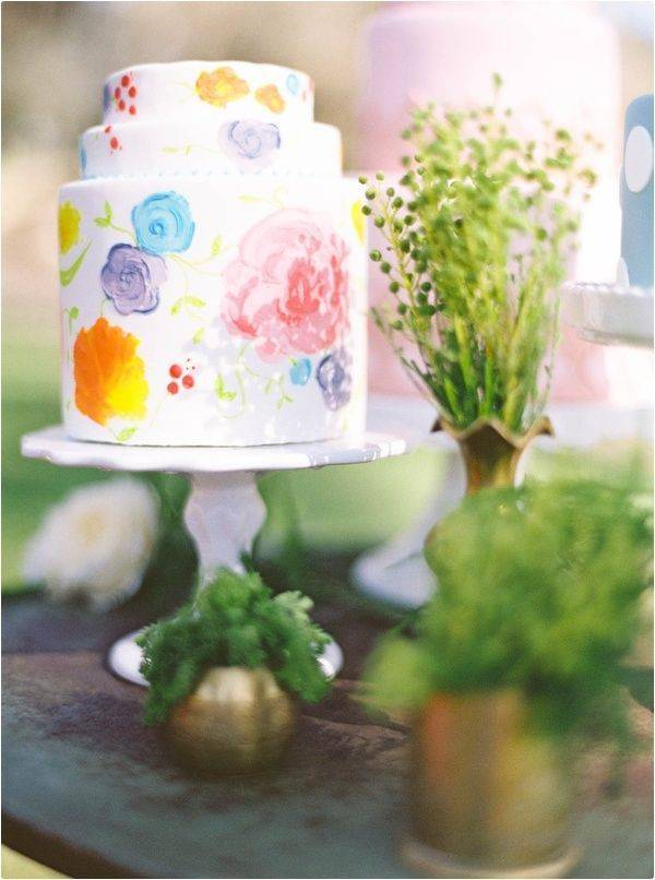 Watercolor wedding cake – pinterest