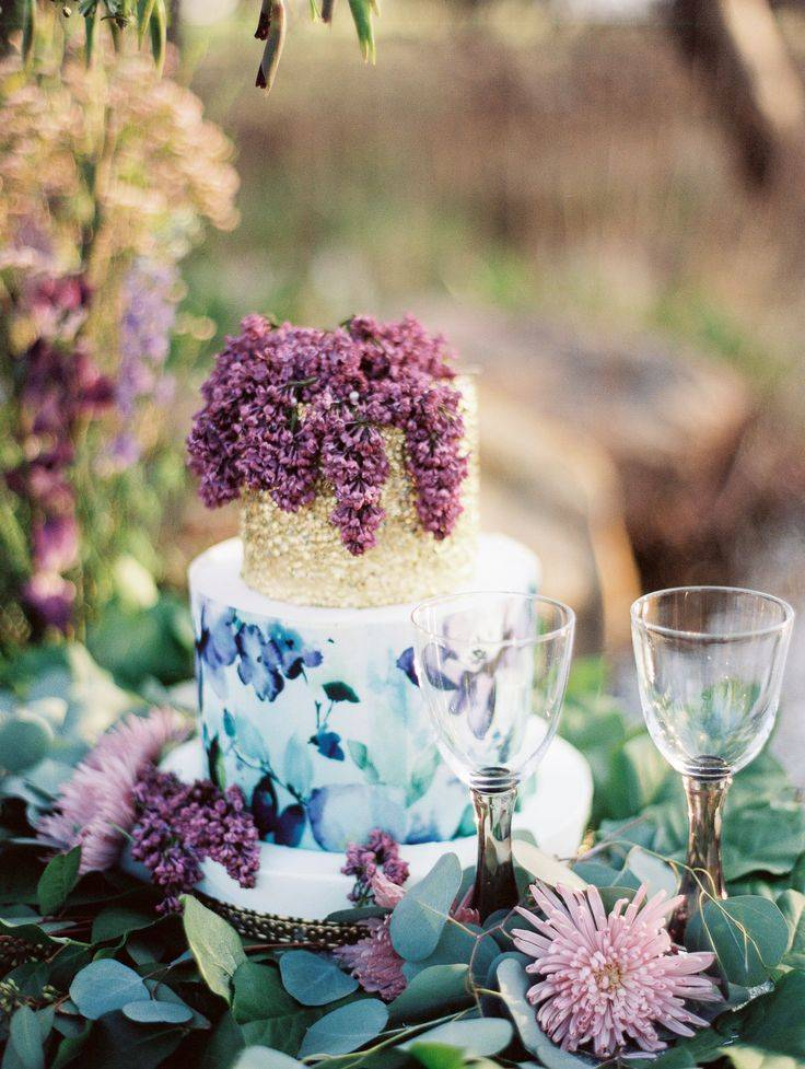 blue and purple watercolor cake - Baker Mishelle Handy. Photography Sheradee Hurst Photography