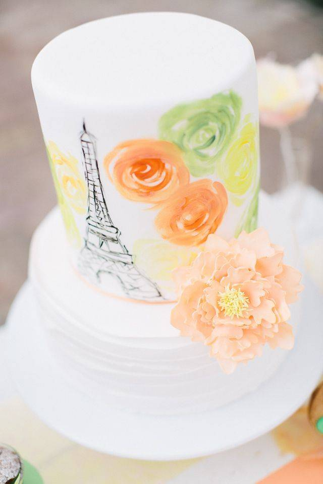 paris watercolor cake – Carmen and Ingo Photography
