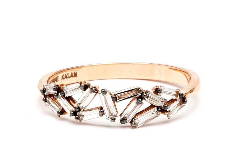 18K ROSE GOLD BAGUETTE BAND – Suzanne Kalan