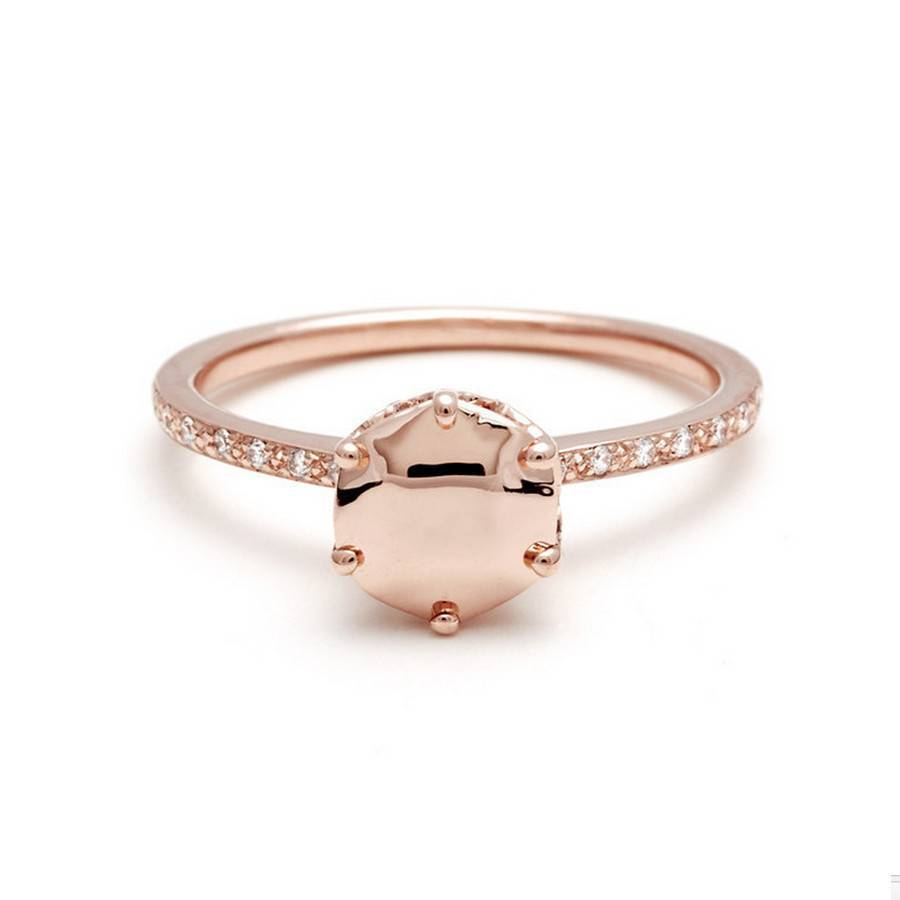 Hazeline Solitaire Ring - Rose Gold Gemstone - Anna Sheffield