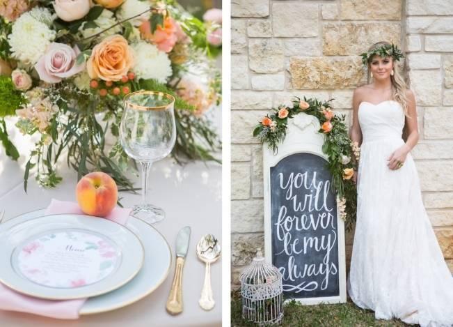 Peach + Blush Garden Wedding Inspiration {Shelly Taylor Photography} 12