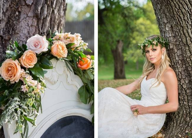 Peach + Blush Garden Wedding Inspiration {Shelly Taylor Photography} 14