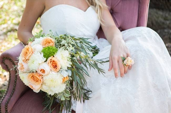 Peach + Blush Garden Wedding Inspiration {Shelly Taylor Photography} 17