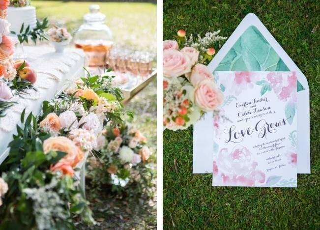 Peach + Blush Garden Wedding Inspiration {Shelly Taylor Photography} 6