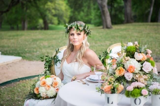 Peach + Blush Garden Wedding Inspiration {Shelly Taylor Photography} 9