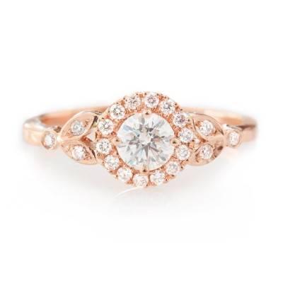 15 Beautiful Rose Gold Engagement Rings
