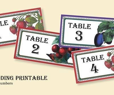 Jam Label Table Numbers: Free Wedding Printable