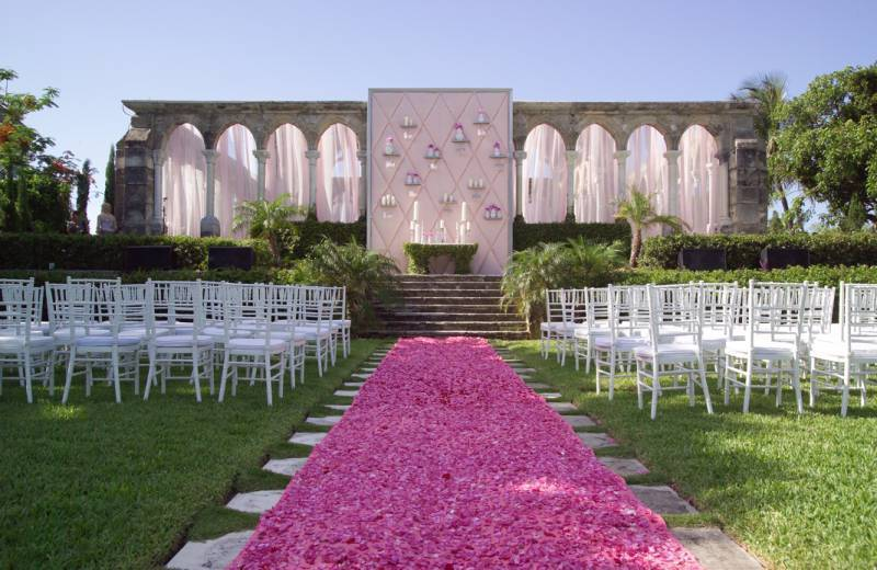 Ceremony - Pink Petal Aisle - Diann Valentine