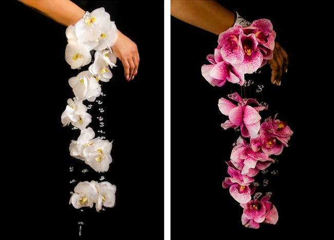 Diann Valentine Morgan Cuff in Bridal White and Raspberry, photos by Diome Photography