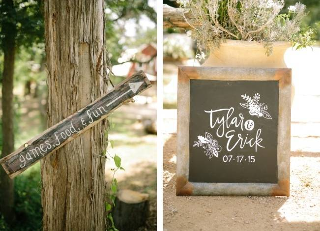 Light Blue Country Wedding with Rustic and DIY Details 14
