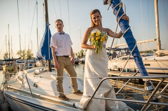 Love Sets Sail Vermont Lakeside Wedding Inspiration 13