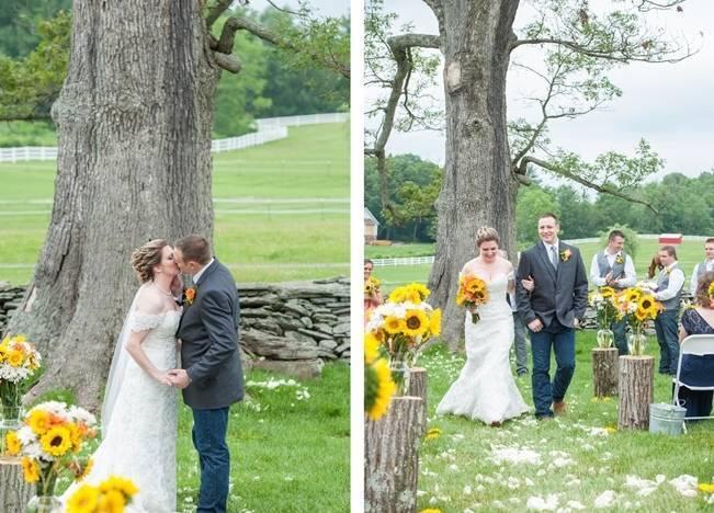 Rustic Pennsylvania Sunflower Wedding at Friedman Farms 10