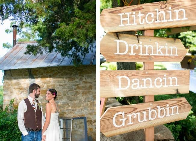 Funky & Bright Farmhouse Wedding {M & E Photo} 11