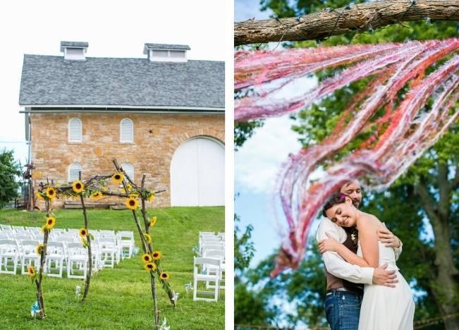 Funky & Bright Farmhouse Wedding {M & E Photo} 13