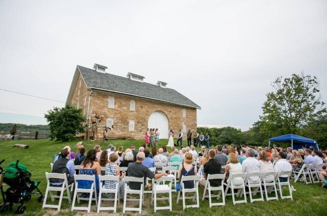 Funky & Bright Farmhouse Wedding {M & E Photo} 14
