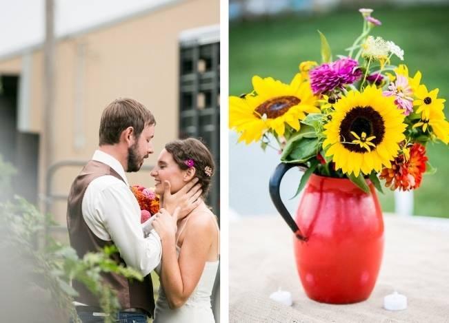 Funky & Bright Farmhouse Wedding {M & E Photo} 19