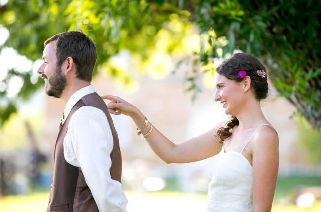 Funky & Bright Farmhouse Wedding {M & E Photo} 8