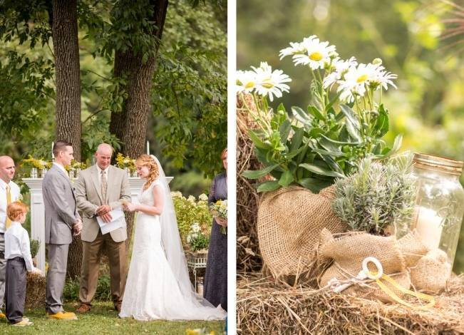 Rustic Outdoor Yellow and Grey Wedding {Idalia Photography} 18