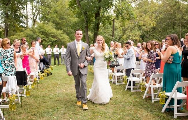 Rustic Outdoor Yellow and Grey Wedding {Idalia Photography} 19