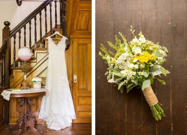 Rustic Outdoor Yellow and Grey Wedding {Idalia Photography} 2