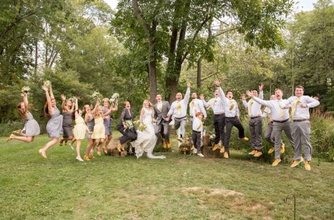 Rustic Outdoor Yellow and Grey Wedding {Idalia Photography} 28