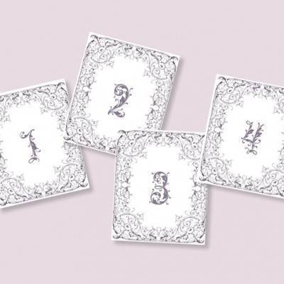Fairytale Table Numbers: Free Wedding Printable