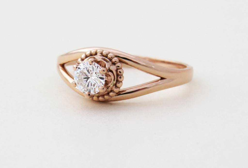 Antique Style Engagement Ring $1,190 - Sivan Lotan Etsy