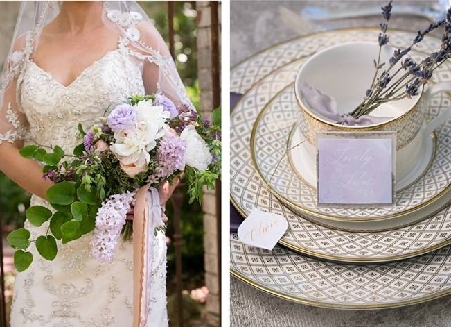 Lovely in Lilac Wedding Styled Shoot at Chandor Gardens 4