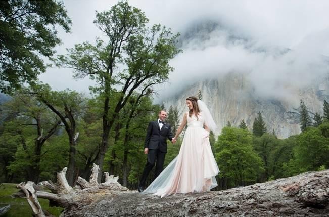 Misty Purple + Green Yosemite Valley Wedding {Duende Photo} 11