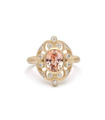 ROUNDED ARABESQUE RING WITH SAPPHIRE – $7,950 – Sofia Kaman