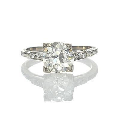 Replica Art Deco Engagement Ring $9875 - antiqueengagementrings.com