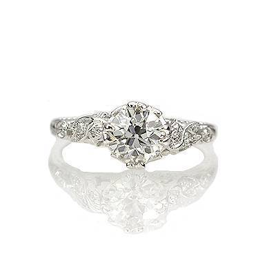 Replica Art Nouveau Engagement ring $6225 - antiqueengagementrings.com