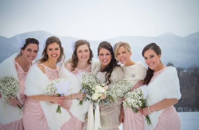 Snowy Winter Wedding in Vermont {Kathleen Landwehrle Photography} 11