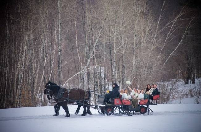 Snowy Winter Wedding in Vermont {Kathleen Landwehrle Photography} 12