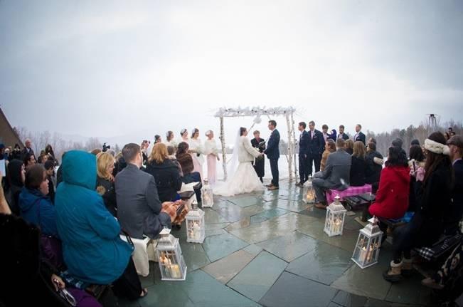 Snowy Winter Wedding in Vermont {Kathleen Landwehrle Photography} 13