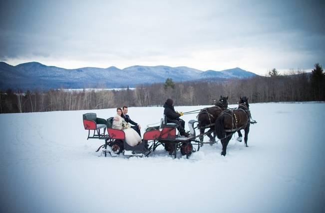 Snowy Winter Wedding in Vermont {Kathleen Landwehrle Photography} 16