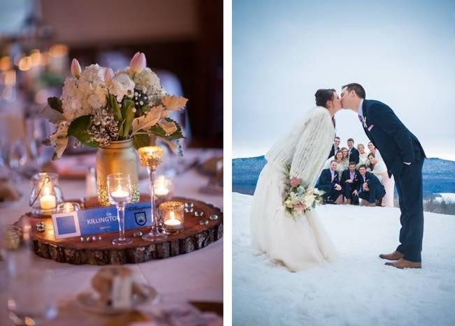 Snowy Winter Wedding in Vermont {Kathleen Landwehrle Photography} 25