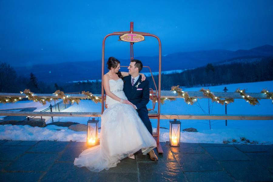 Snowy Winter Wedding in Vermont {Kathleen Landwehrle Photography} 28