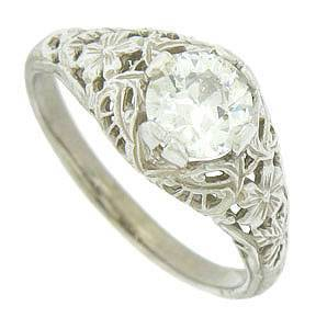 engraved cutwork flowers and vines ring $4,850 - marlene harriscol