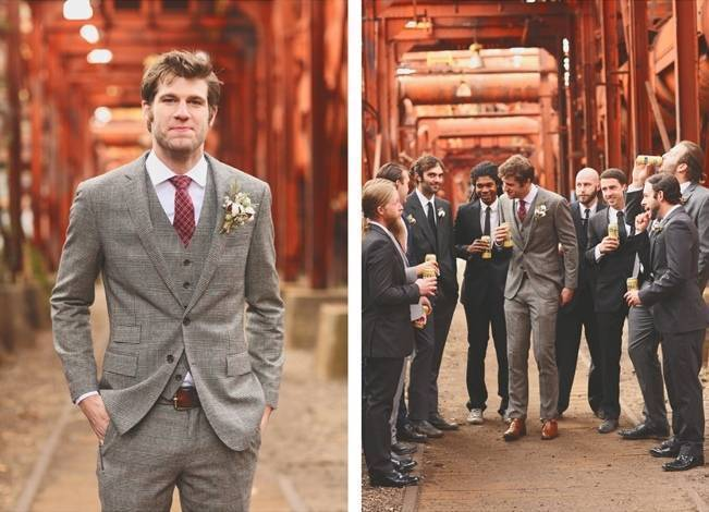 Artsy Industrial Wedding with Rustic + Vintage Details {j.woodbery photography} 10