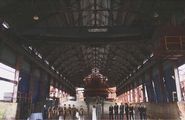 Artsy Industrial Wedding with Rustic + Vintage Details {j.woodbery photography} 13