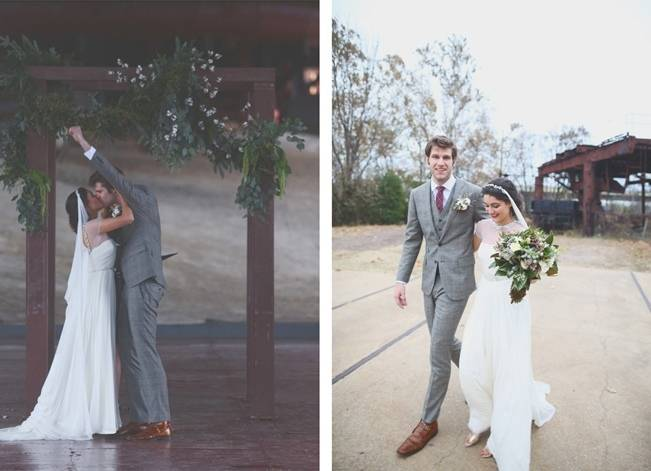 Artsy Industrial Wedding with Rustic + Vintage Details {j.woodbery photography} 14